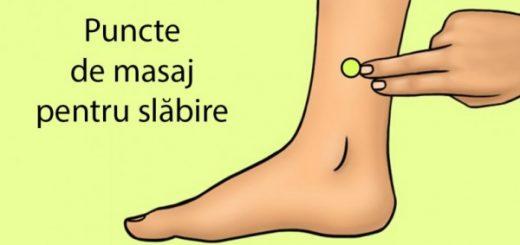 puncte masaj slabire