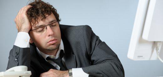 Sleeping young businessman